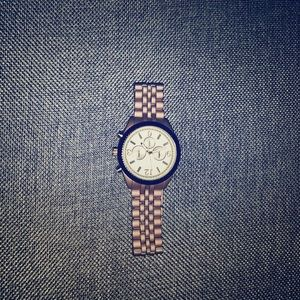 Pink Rose Gold Watch - Stainless Steel back